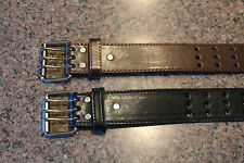 "NWT 1 Big Man Leather 1-3/4"" Wide Mens Belt Black Or Brown Size 2X 3X & 4X"