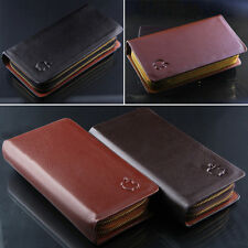 Men real leather wallet CR117 double zipper wallet card pack can hand apple mark