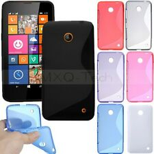 S Line Wave Soft Flexible TPU Gel Silicone Case Cover Skin For Nokia Lumia 630