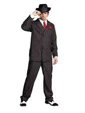 Gangsta Halloween Gangster Men Costume Male Party Suits 6 Pcs Set by Dreamgirl