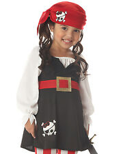 Precious Lil' Pirate Toddler Baby Girls Fancy Halloween Party Costume M-L