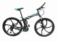 "Pedalease Super sport 26"" folding full suspension Mountain bike dual disc brake"