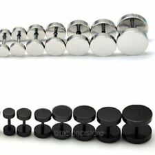 A Pair of 2Pcs Cool Mens Barbell Punk Gothic Stainless Steel Ear Studs Earrings