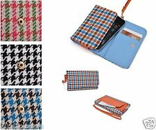 New Universal Classic Women Wallet Houndstooth Pattern Bag for Android Phone