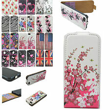 Flip Leather ID Card Cell Phone Holder Pouch Cover Case For Apple iphone 5 5G 5S