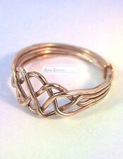 Bronze Turkish Puzzle Ring - 4 Band Open Weave Design - Select Your Size