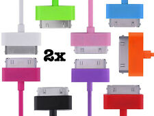 New 3Ft 6ft 10Ft 2 Pack  USB Data Sync Charger for iPhone 4s Cable 4S Cord Ipod