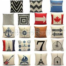 Fashion Pillow Case Cotton linen Cushion Cover Square Home Throw Sofa Simple