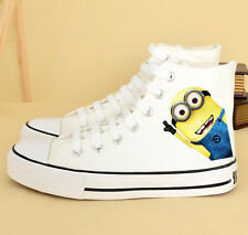 Autumn Winter Couple Casual Canvas Shoes Despicable Me Mr Minions Flat Sneakers