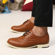 New 2014 Mens Brogues Lace-up Oxfords Formal Shoes Breathable Recreational Shoes