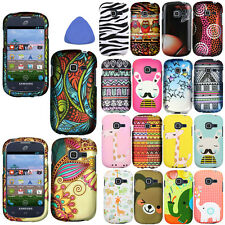 Hard Protector Case Cover For Samsung Galaxy Discover Centura Phone Flower +Tool