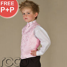 Boys Pink Waistcoat Suit, Boys Wedding Suits, Page Boy Suits, Communion Suits