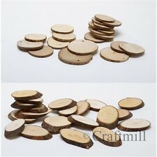 Wooden Wood Log Slices Natural Tree Bark- choose Shape Plaque Decorative Wedding