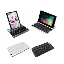Ultra Slim Wireless Bluetooth Aluminum Metal Keyboard Case Cover For Tablets
