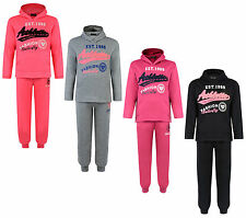 KIDS TRACKSUIT GIRLS JOG SET ATHLETIC HOODED TOP & JOGGERS BNWT