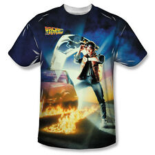Back to the Future 80's SyFy Comedy Movie Film Poster Adult Front Print T-Shirt