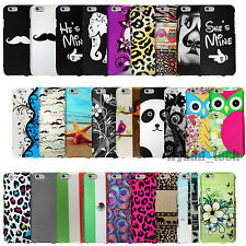 For Apple iPhone 6 Plus 4.7 & 5.5 Design Hard Case Snap On Rubberized Cover