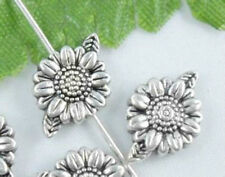 Wholesale 30/66Pcs Tibetan Silver Flowers  Spacer Beads 13x9mm(Lead-free)