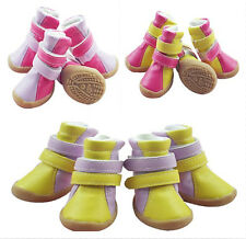 Good Quanlity New Cozy Small Pet Dog Waterproof Boots Puppy PU Shoes SIZE #1-#5