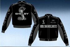 Shelby Cobra Collage Jacket Black Twill Shelby Jacket Adult JH Design NEW