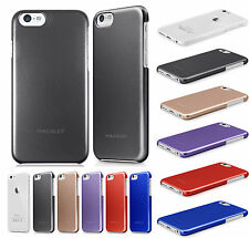 """MACALLY METALLIC SNAP CASE RUBBERIZED SLIM HARD COVER FOR APPLE iPHONE 6 (4.7"""")"""