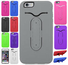 Apple iPhone 6 Plus 5.5 Rubber Hybrid HARD Case Phone Cover Snap Tail STAND