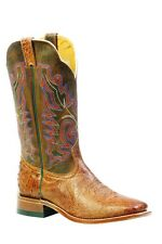 Boulet Western Boots Mens Exotics Ostrich Smooth Mad Dog Ranger 3500