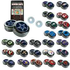 Brand New NFL All Teams Chrome License Plate Frame Screw Caps
