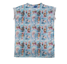 Disney Frozen Adults Queen Elsa Anna Olaf All Over Print T-Shirt Tee Top NEW