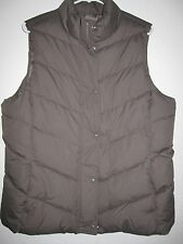 NWT Womens GAP Taupe / Lt Brown Puffer Vest Jacket Size L
