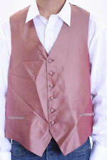 NWT Fumagalli's Mens Formal Tuxedo Diamond Print Red Button Front Silk Vest