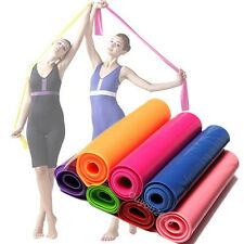 1.5m Gym Mat  Yoga cord Pilates Rubber Stretch Resistance Exercise Fitness Band