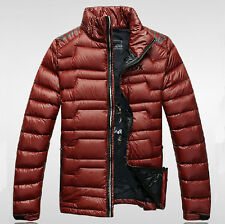 NEW men's short Leisure down jacket Slim hooded Down jacket coat 4 colors M-XXXL