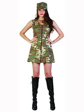Adult UK 10-20 Camo Army Girl Soldier Fancy Dress Costume Sexy Ladies Womens New