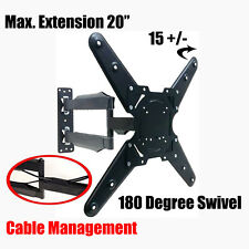 "NEW Tilt Swivel Extendable Arm Wall Mount for LED LCD Plasma TV Fits 26"" to 55"""