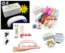 Pro 9W LED UV Lamp Gel Polish Nail Art Tips Dryer Manicure Tool 10 Colors Hot
