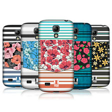 HEAD CASE FLORAL STRIPES PROTECTIVE COVER FOR SAMSUNG GALAXY S4 MINI I9190