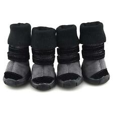 Warm Pet Dog Anti-slip 3in1 Snow Boots Cat Puppy Cotton Sporty Shoes Sneaker E77