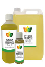 EVENING PRIMROSE OIL - Cold Pressed FREE P&P (Massage Carrier Base Aromatherapy)