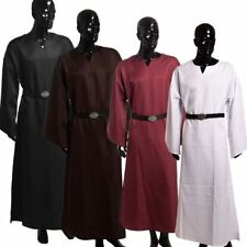 Medieval Renaissance Larp Wicca Pagan Ritual Robe Gown With Belt 4 Color Cosplay
