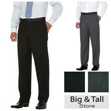 Big Men's Savane Dress Pants FLAT FRONT Select Edition Expandable Waist 44 - 60