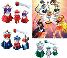 Party Fancy Dress Up Sailor Moon Cosplay Costume Dress & Gloves One Size