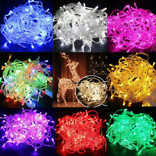 100 LED Christmas Tree Fairy Colorful String Party Lights Lamp Xmas Waterproof