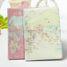 Travel Utility World Map Passport ID Card Cover Holder Case Protector Skin PVC