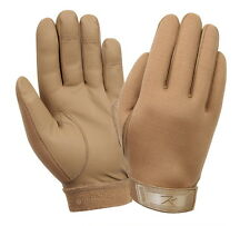 Coyote Brown Airsoft Paintball All Weather Neoprene Tactical Shooting Gloves
