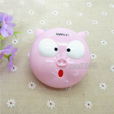 Pink Pig Contact Lens Mate Box Storage Soaking Case Container Eye Care Vision