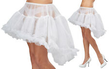 Sexy Womens High to Low White Petticoat