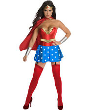 Sexy Wonder Woman Girl Costume Set w/Corset Outfit for Cosplay & Halloween Party