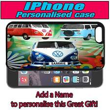PERSONALISED CAMPER VANS iPHONE 4 s 5 s 5c SILICONE BACK CASE
