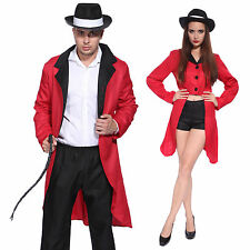 Men Women Circus Ringmaster Jacket Costume Fancy Dress Tailcoat Cosplay Outfit